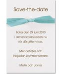 Save-the-date kort,<br>Tiffany Dream