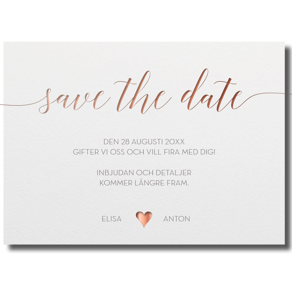 e3243d38682c Save the date Bröllop Satve the Date-kort Spara datumet
