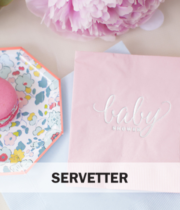 Servetter Baby shower