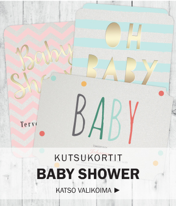 Kutsukortit Baby Shower