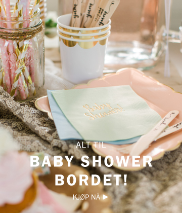 Alt til baby shower-bordet!