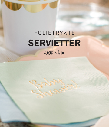 Servietter til baby shower