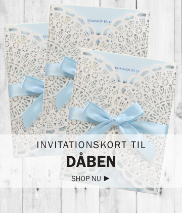 Invitationskort til dåben