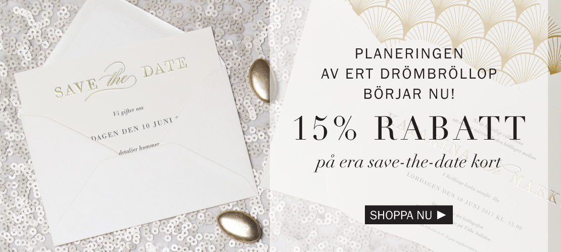 Save the date 15% rabatt!