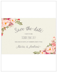 Save-the-date Bohemian feeling