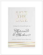 Save the date -kortti Gatsby Style